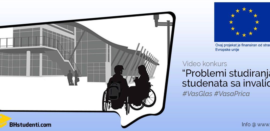 """Objavljen video konkurs na temu """"Problemi studiranja studenata sa invaliditetom"""""""