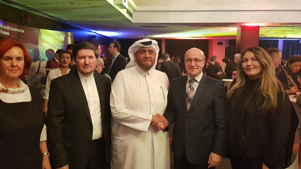 Delegacija Fakulteta na svečanom prijemu povodom Dana državnosti Države Katar